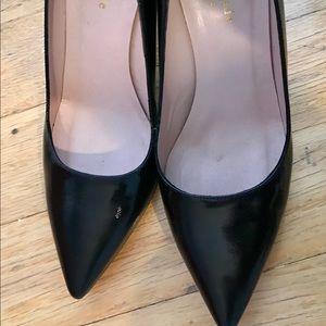 Kate Spade Black Wedge Heels